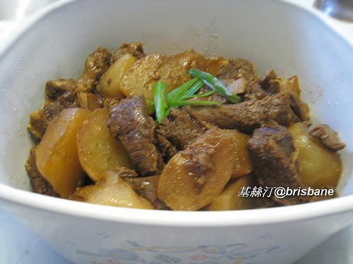 Stewed Beef Brisket in Chu Hou Sauce