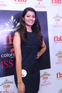 Model Shreya Kamavarapu in Short Black Dress at FBB Miss India 2017 finalists 053.JPG