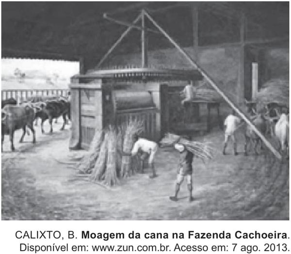 Moagem da cana na Fazenda Cachoeira