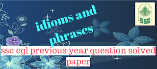 idioms and phrases ssc cgl previous year paper