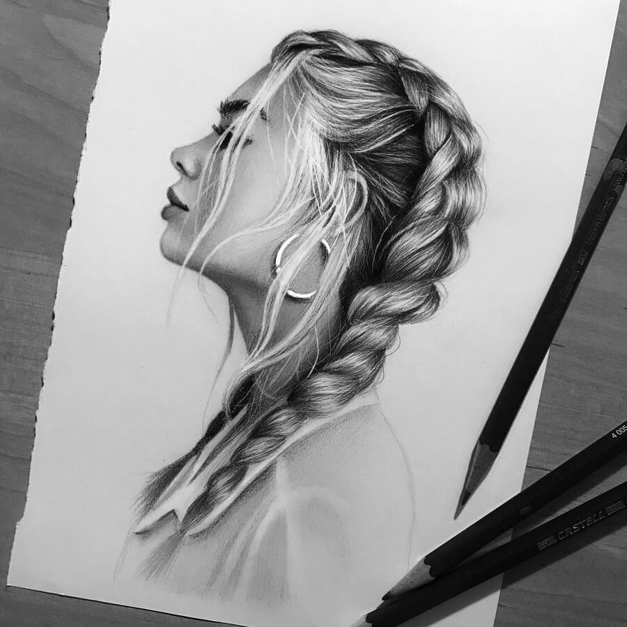 07-Braided Hair-Kristina-Branisheuskaya-www-designstack-co