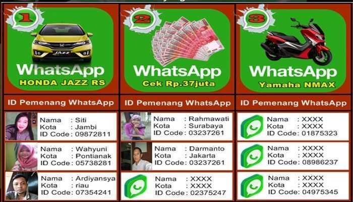 Waspada Penipuan Undian WhatsApp 2018