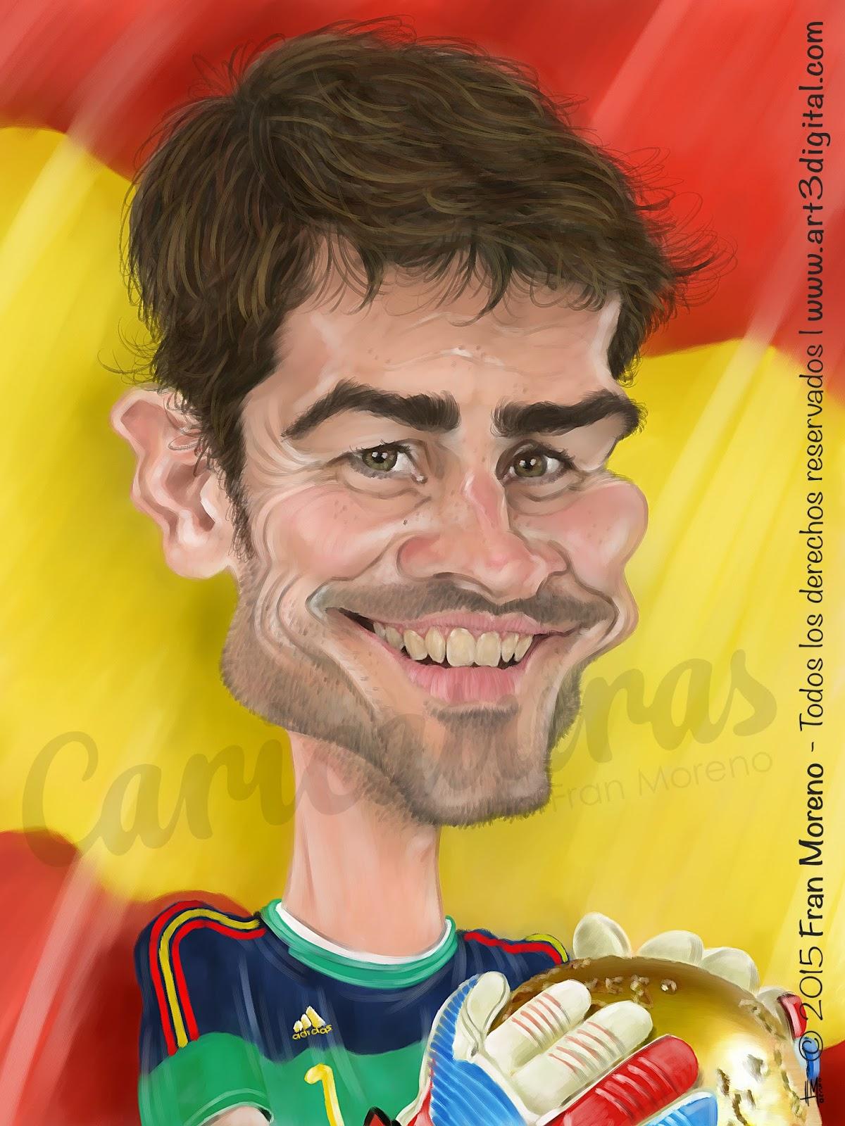 """""""Iker Casillas"""" por Fran Moreno"""