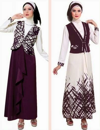 Baju muslim gamis brokat untuk wanita muslimah muda