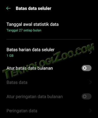 cara membatasi kuota internet agar hemat di android