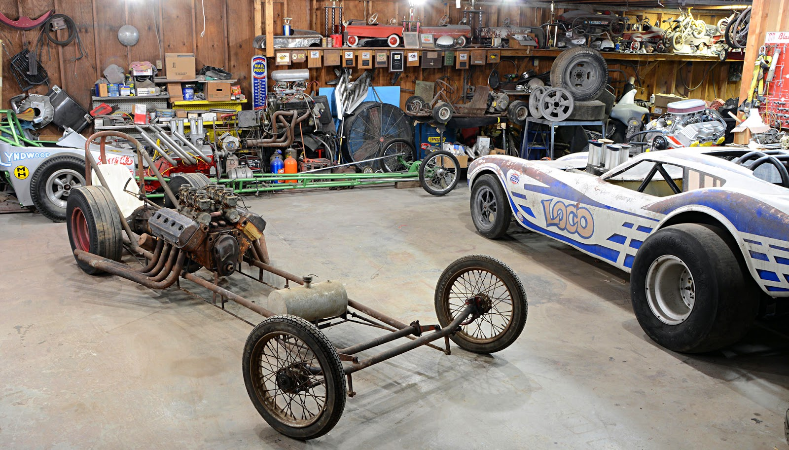 Just A Car Guy: a vintage drag car collection just turned up