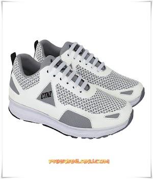Sepatu Sport Pria Warna Putih Keren