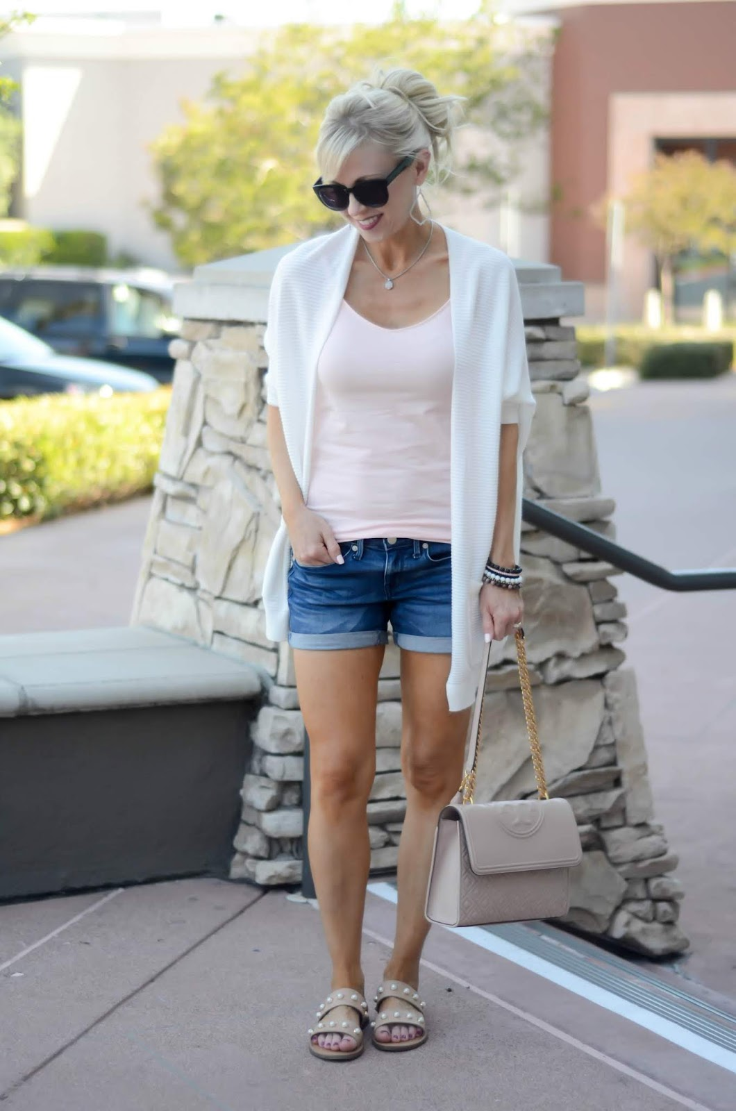b482a78de5 White Cardigan Outfits + Echo Look Preview   On the Daily ...