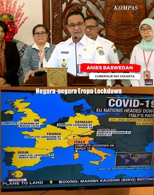 """Indonesia Jangan Sampai Terlambat Lockdown, Anies Sudah """"Mencicil Lokcdown"""""""
