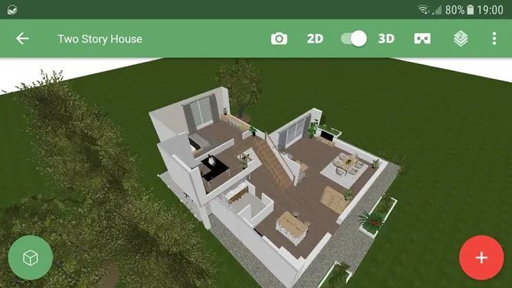 Planner 5D :  Δημιουργήστε ρεαλιστικά 2D και 3D  σχέδια