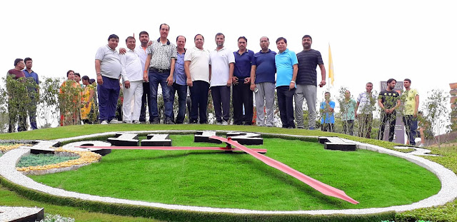 Industry Minister Vipul Goyal inaugurated Flower Watch and development works in Sector-12 Town Park