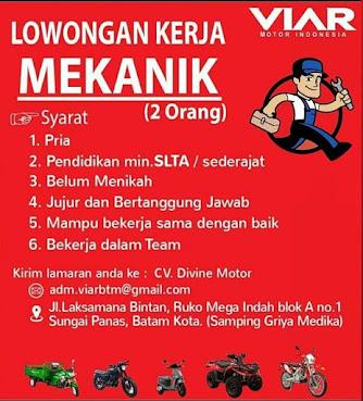 Kerjabatam.com PENGUMUMAN RESMI LOKER Viar Motor Indonesia