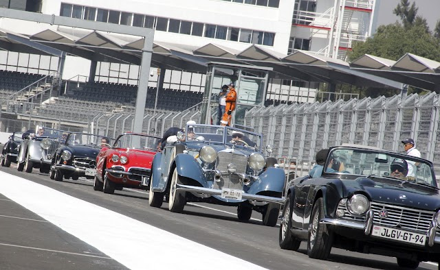 Ensayan desfile de pilotos rumbo al Gran Premio de México