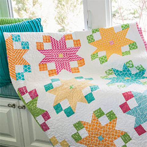 Star Flowers Quilt Free Pattern