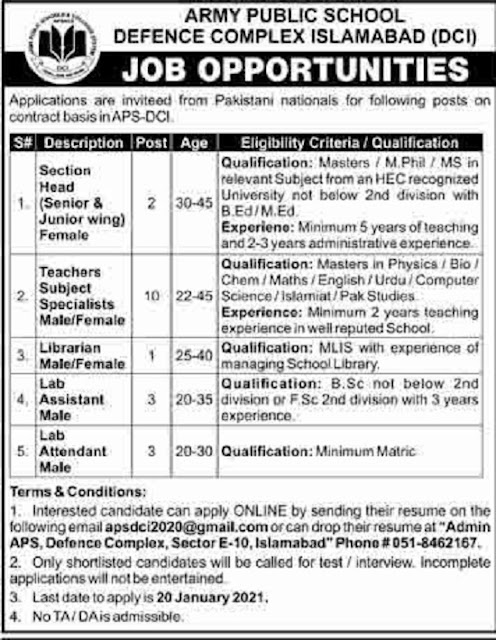army-public-school-defence-complex-islamabad-jobs-2021-advertisement