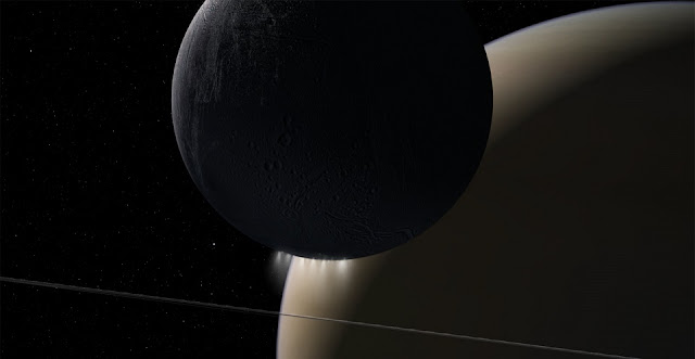 NASA's Cassini spacecraft's Grand Finale orbits found a powerful interaction of plasma waves moving from Saturn to its rings and its moon Enceladus. Credits: NASA/JPL-Caltech