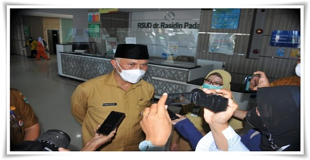 Gubernur Sumbar Tinjau Kesiapan RSUD dr Rasidin Terkait COVID-19