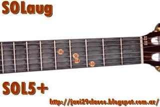 SOLaug acorde de guitarra quinta aumentada