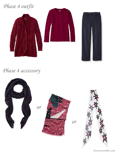 adding a scarf to a capsule wardrobe