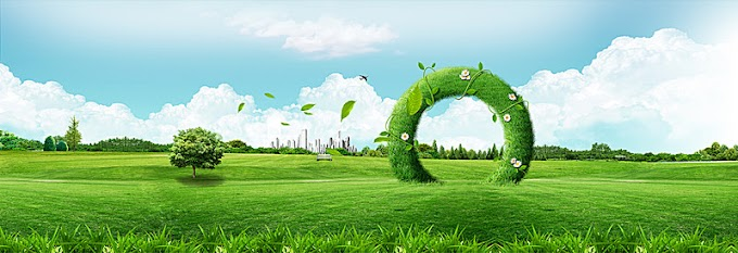 แจกไฟล์ PSD พื้นหลังทุ่งหญ้าสีเขียวสวยๆ
