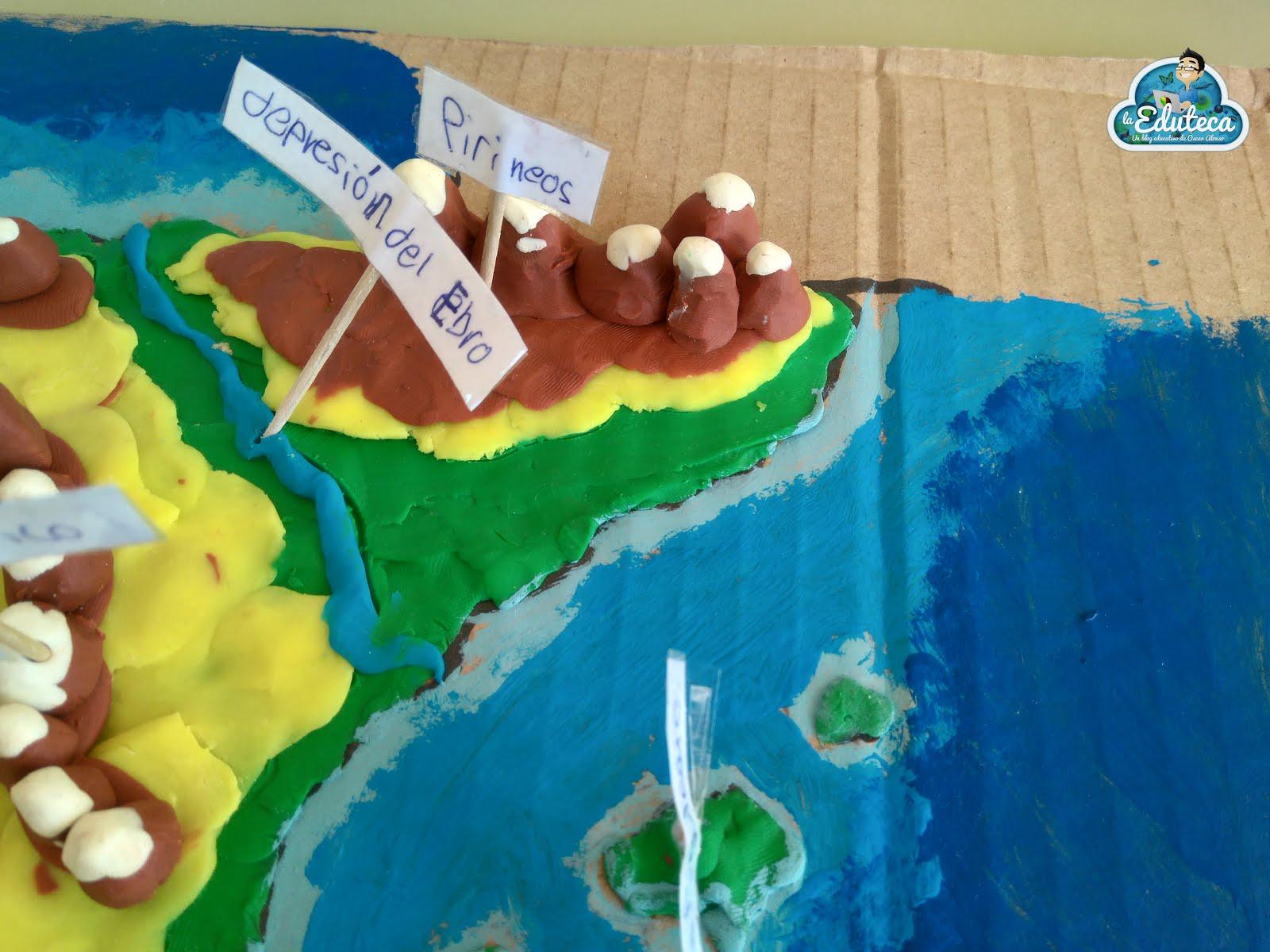 La Eduteca Club De Ideas Mapas De Plastilina Del Relieve Español