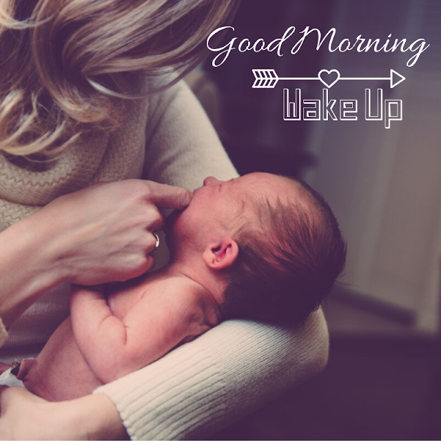 Sleeping Baby with Mother Good Morning Images
