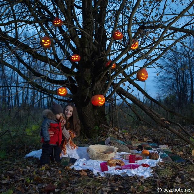 пикник осенью на природе