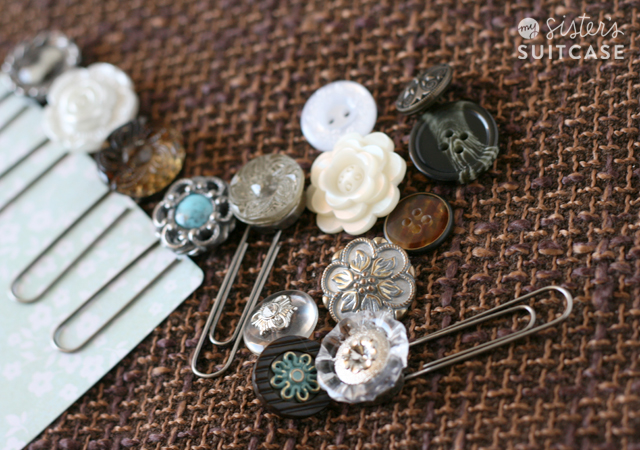 Diy Vintage Button Bookmarks 5 Minute Project My Sister S