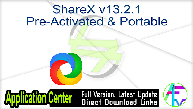 ShareX v13.2.1 Pre-Activated & Portable