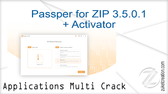 Passper for ZIP 3.5.0.1 + Activator