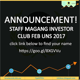 Pengumuman Open Recruitment Magang Investor Club 2017