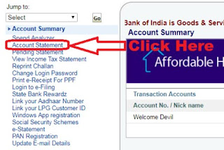 how to find cif number in sbi statement