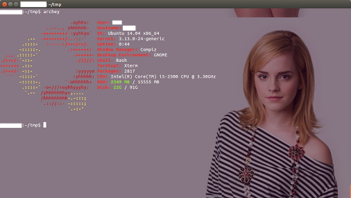 Instale o archey, e tenha logo da distribuição e informações do sistema no Terminal do Ubuntu/ Linux Mint/ Debian!