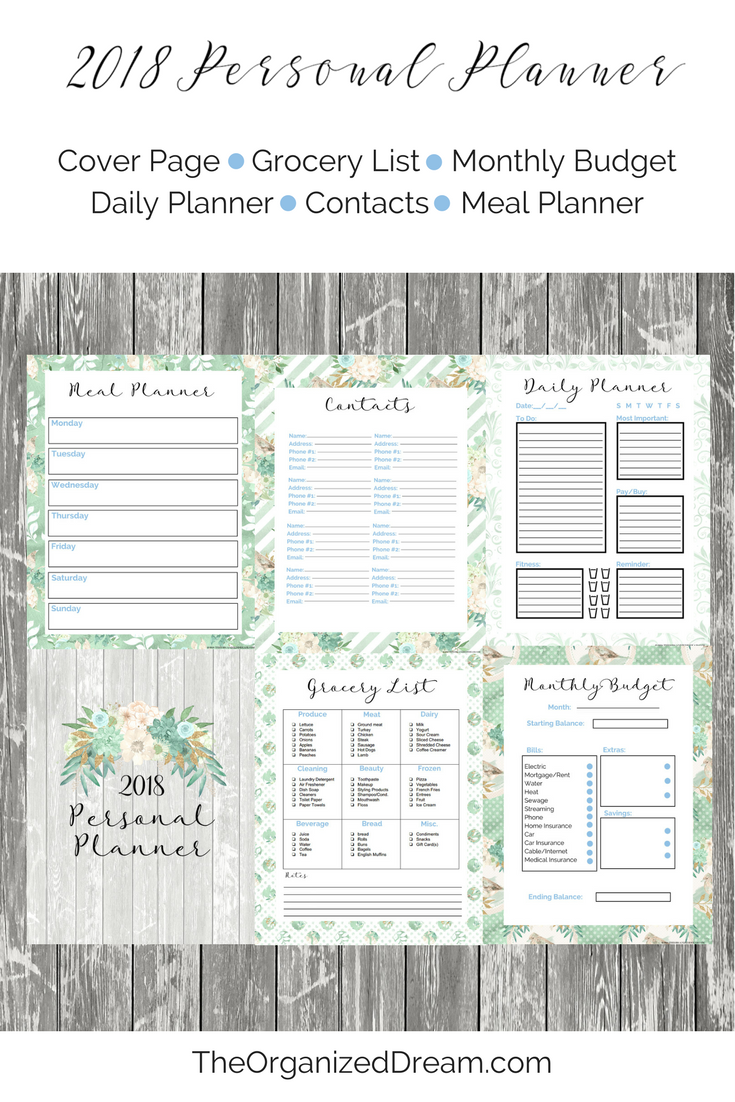 you can download one of these planners and calendar individually or all three at once each one will be in a zip file folder so that you can easily print