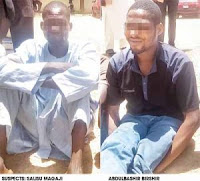 See the 2 Evil Men Who Took Turns to R*pe 1-Year-Old Baby In Katsina Before Her mother (Photo)