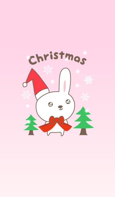 귀여운 토끼 크리스마스 테마