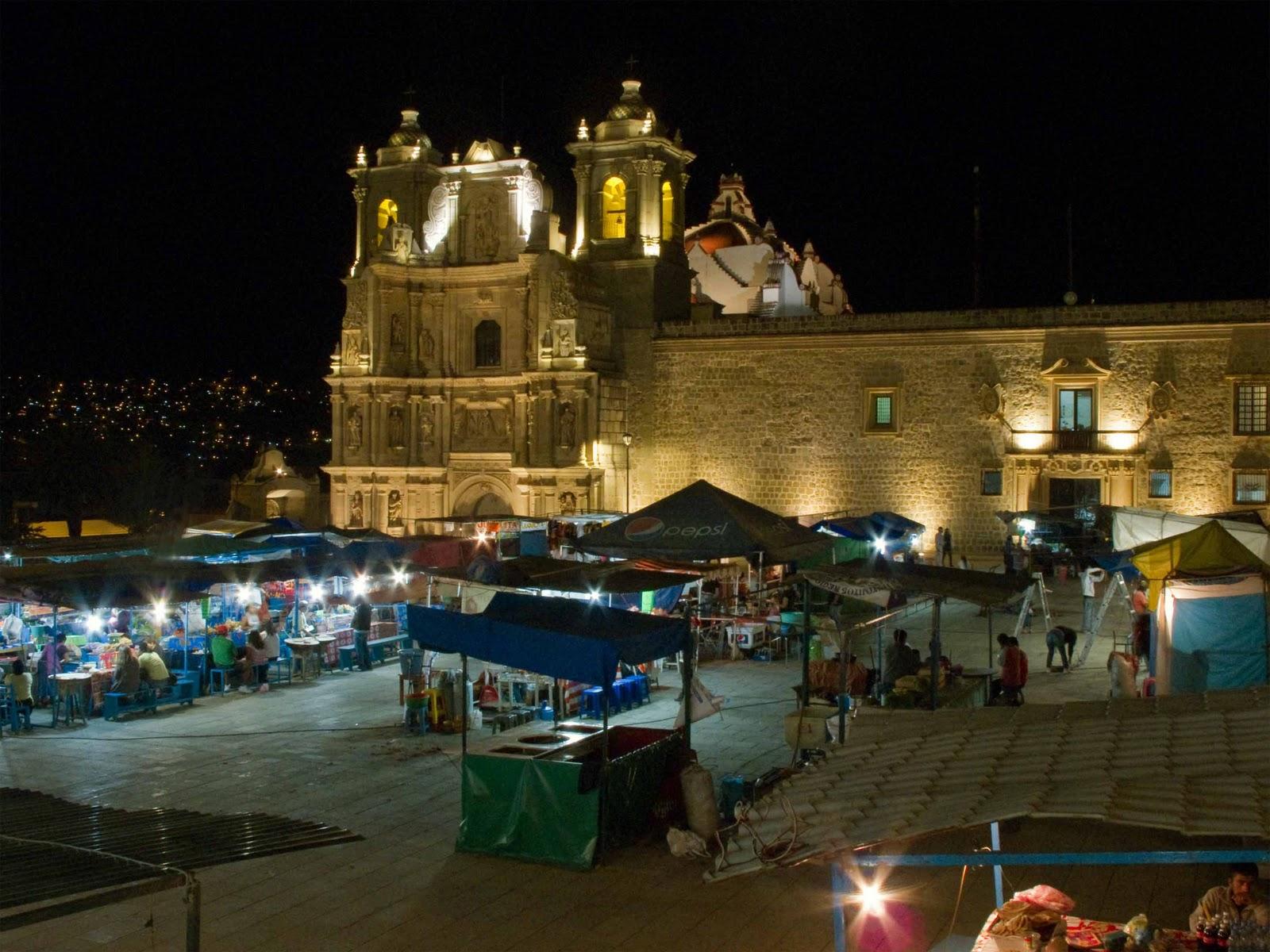 Oaxaca Plaza De La Danza Jard 237 N S 243 Crates Y Templo De San