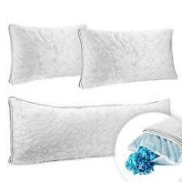 Memory Foam Cool Gel Pillow Ultra Luxurious Hypoallergenic Pillow OR Body Pillow