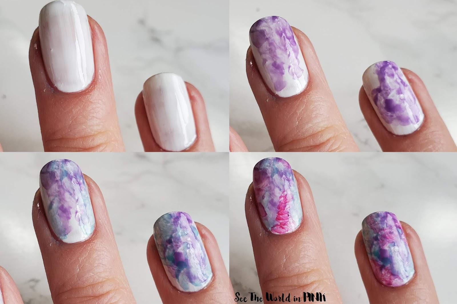 Manicure Monday - Watercolour Nail Art