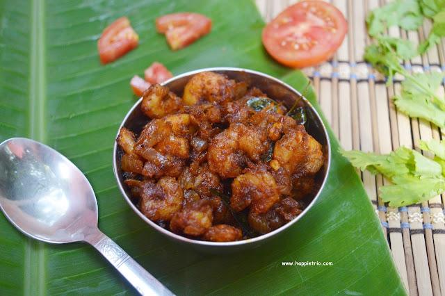 Kerala style Prawn Masala Recipe | Iral Pirattal