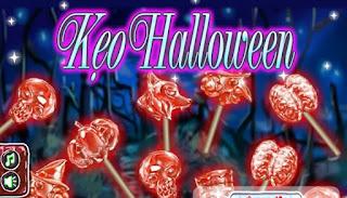 Game kẹo mút Halloween kinh dị
