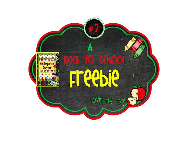 Kindergarten Crayons Common Core Freebie #2