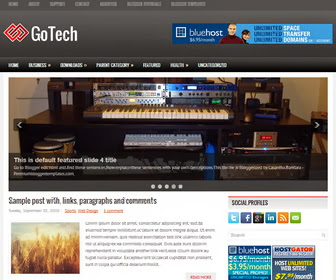 GoTech Blogger Template