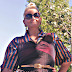 Mens Silk Pajama Top worn as a Blouse