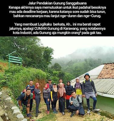 Backpacker Karawang Pendakian Gunung Sanggabuana