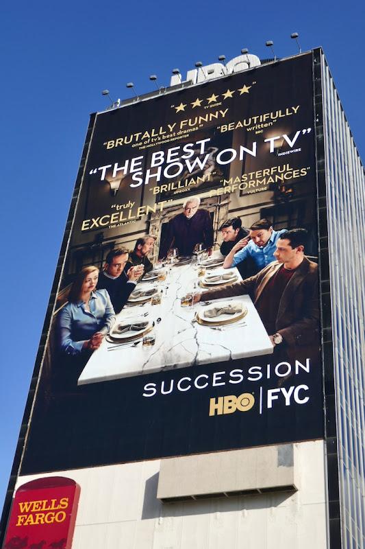 Giant Succession season 2 consideration billboard