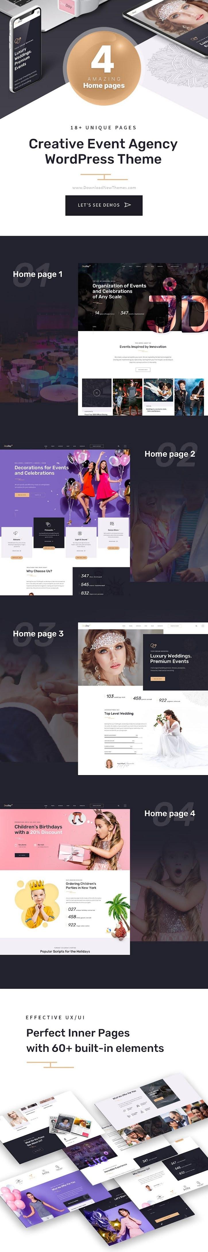 Creative Event Agency WordPress Theme