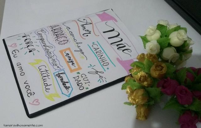 pôster de lettering presente dia das mães - Tamaravilhosamente