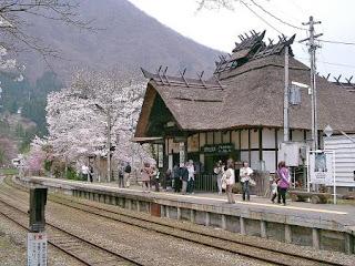 湯野上温泉駅舎 / 福島県下郷町