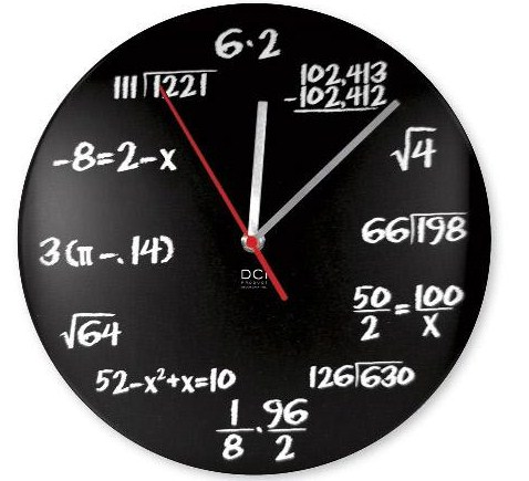 jam dinding unik buatan sendiri math